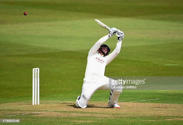 Brendan Taylor of Nottinghamshire takes evasive action during the LV County Championship match between Nottinghamshire and Worcestershire at Trent...