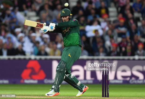 Brendan Taylor of Notts in action during the NatWest T20 Blast Final between Birmingham Bears and Notts Outlaws at Edgbaston on September 2 2017 in...