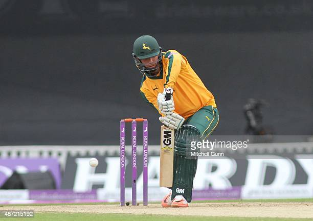 Brendan Taylor of Notts is out LBW first ball during the Royal London One Day Cup semifinal match between Surrey and Nottinghamshire at the Kia Oval...
