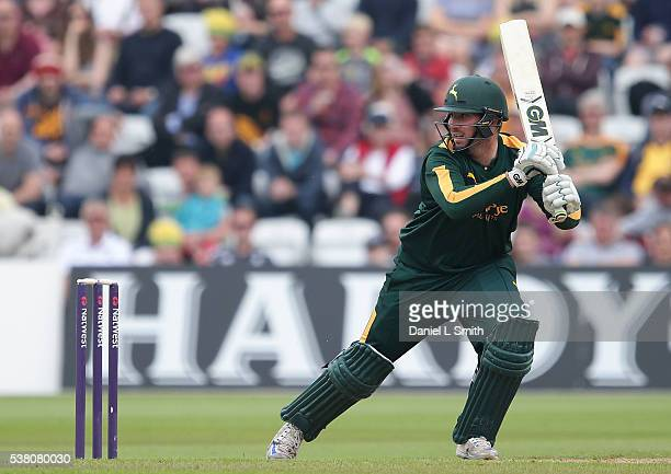 Brendan Taylor of Notts Outlaws bats during the NatWest T20 Blast match between Notts Outlaws and Lancashire Lightning at Trent Bridge on June 4 2016...