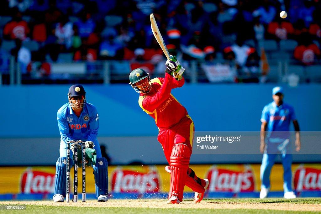 India v Zimbabwe - 2015 ICC Cricket World Cup : News Photo