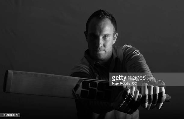 Brendan Taylor of Zimbabwe poses for a picture during the Zimbabwe Portrait Session for the ICC Cricket World Cup Qualifier at The Holiday Inn on...