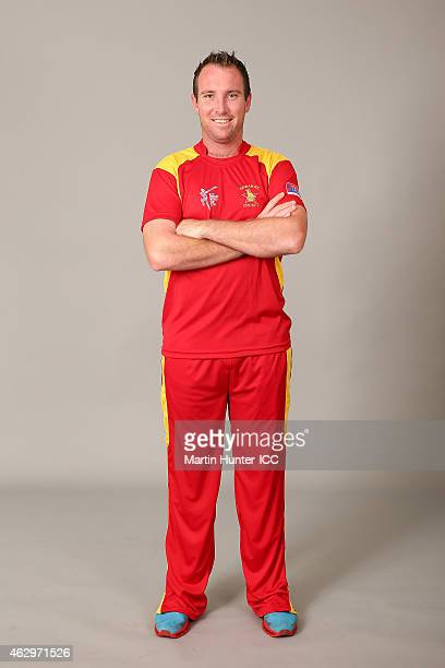 Brendan Taylor poses during the Zimbabwe 2015 ICC Cricket World Cup Headshots Session at the Rydges Latimer on February 8 2015 in Christchurch New...