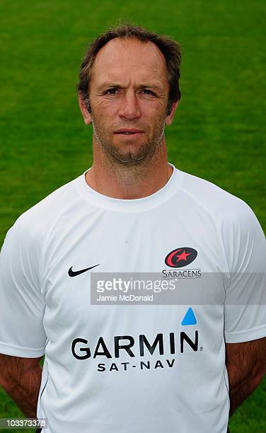 Brendan Venter of Saracens poses for a portrait during the Saracens squad photo call at Saracens Training Centre on August 13 2010 in Watford England