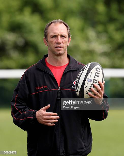 Brendan Venter the Saracens director of rugby looks on during the Saracens training session on May 25 2010 in St Albans England