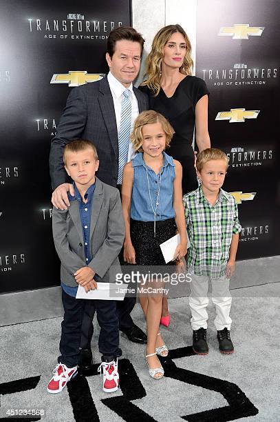 Brendan Wahlberg Mark Wahlberg Ella Rae Wahlberg Rhea Durham and Michael Wahlberg attend the New York Premiere of Transformers Age Of Extinction at...