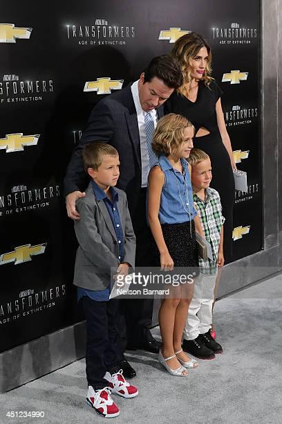 Brendan Wahlberg Mark Wahlberg Ella Rae Wahlberg Rhea Durham and Michael Wahlberg attend the New York Premiere of Transformers Age Of Extinction at...