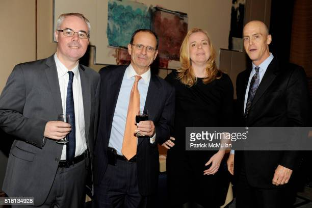 Brendan Walsh Peter Tovar Mary Athridge and Roger Schwoerer attend THE NEW YORK TIMES Celebrates the Expansion of DEALBOOK at The Four Seasons...