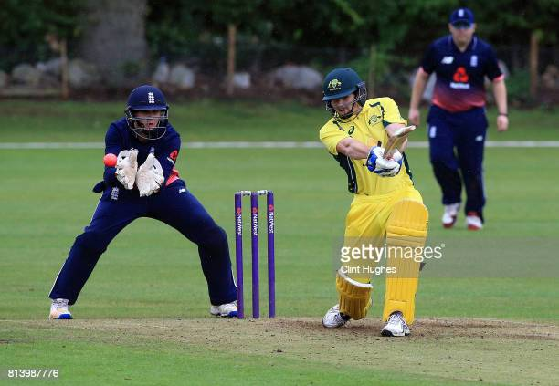 Brendan Westlake of Australia during the INAS Learning Disability TriSeries Trophy game between England and Australia at Grappenhall Cricket Club on...