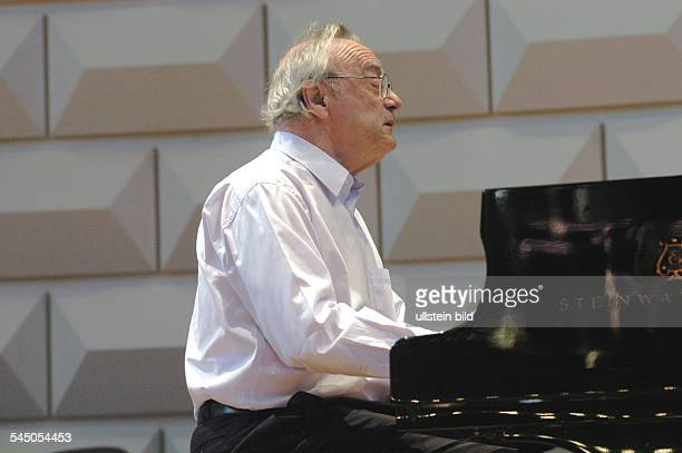 Brendel Alfred Musician Pianist Composer Publicist Austria during a rehearsal in Wiesbaden