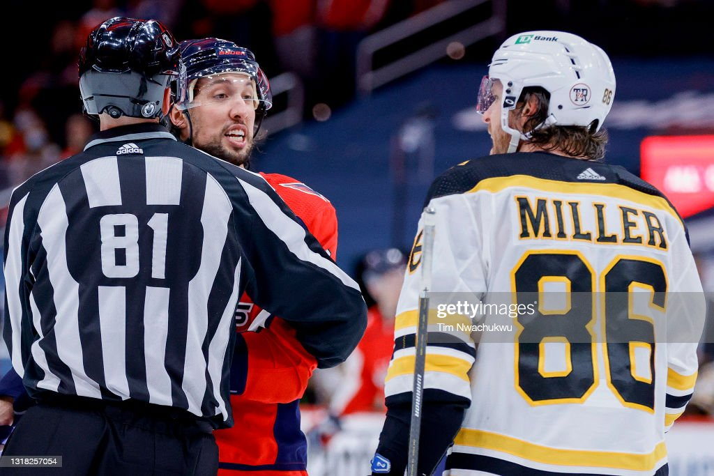 Boston Bruins v Washington Capitals - Game One : News Photo