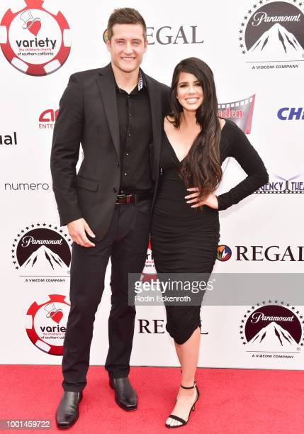 Brenden Johnson and Andrea Johnson attend the 8th Annual Variety Children's Charity of SoCal Texas Hold 'Em Poker Tournament at Paramount Studios on...
