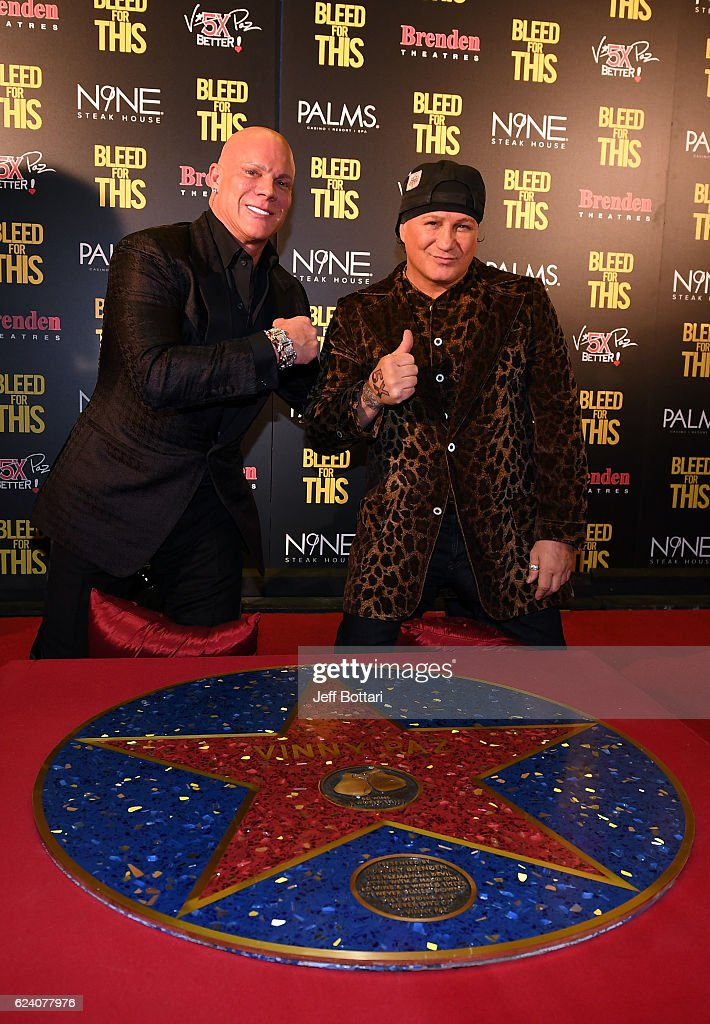 """Bleed For This"" Las Vegas Red Carpet Screening With Miles Teller And Five-Time World Champion Vinny Paz : News Photo"