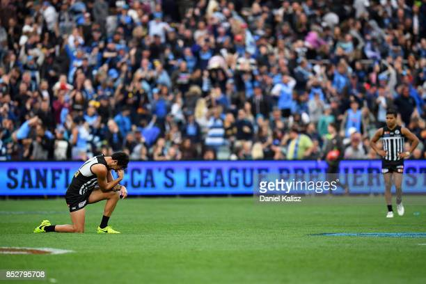 Brendon Ah Chee looks on dejected after the SANFL Grand Final match between Port Adelaide and Sturt at AAMI Stadium on September 24 2017 in Adelaide...