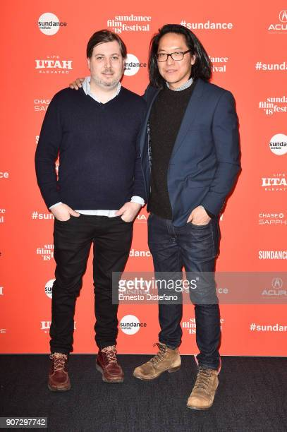 Brendon Anderegg and filmmaker Stephen Maing attend the 'Crime And Punishment' Premiere during the 2018 Sundance Film Festival at The Ray on January...