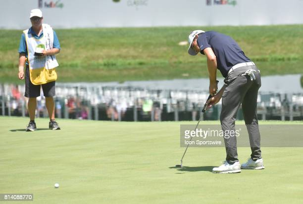 Brendon de Jonge putts on the 18th hole during the first round of the John Deere Classic July 13 at TPC Deere Run Silvis IL