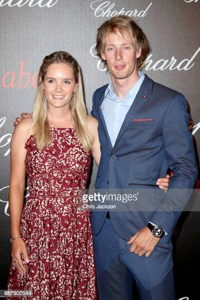 Brendon Hartley and Sarah Wilson attend the Annabel's Chopard Party during the 70th annual Cannes Film Festival at Martinez Hotel on May 24 2017 in...