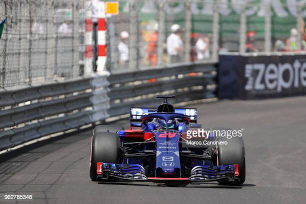 Brendon Hartley of New Zealand and Scuderia Toro Rosso on track during qualifying for the Monaco Formula One Gran Prix