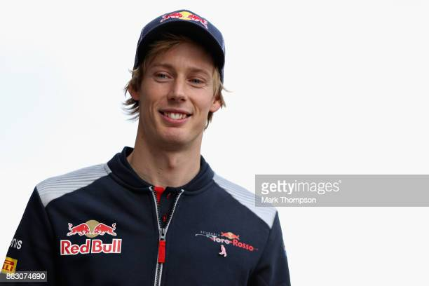 Brendon Hartley of New Zealand and Scuderia Toro Rosso walks in the Paddock during previews ahead of the United States Formula One Grand Prix at...