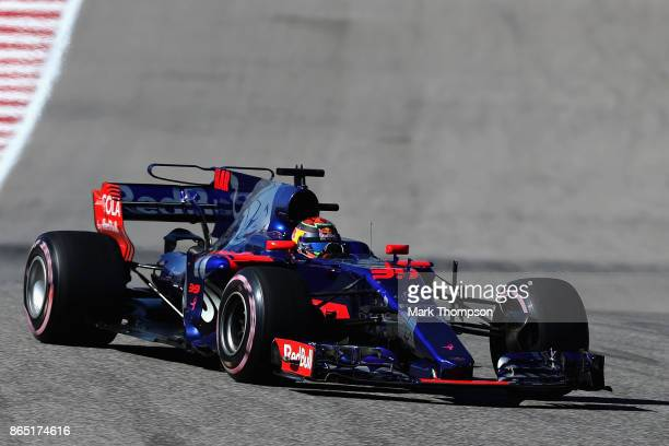 Brendon Hartley of New Zealand driving the Scuderia Toro Rosso STR12 on track during the United States Formula One Grand Prix at Circuit of The...