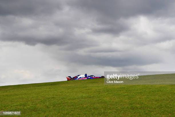 Brendon Hartley of New Zealand driving the Scuderia Toro Rosso STR13 Honda on track during final practice for the Formula One Grand Prix of Brazil at...