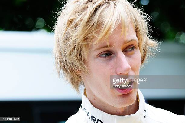 Brendon Hartley of New Zealand during the Goodwood Festival of Speed at Goodwood House on June 28 2014 in Chichester England