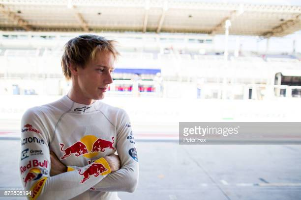 Brendon Hartley of Scuderia Toro Rosso and New Zealand during practice for the Formula One Grand Prix of Brazil at Autodromo Jose Carlos Pace on...
