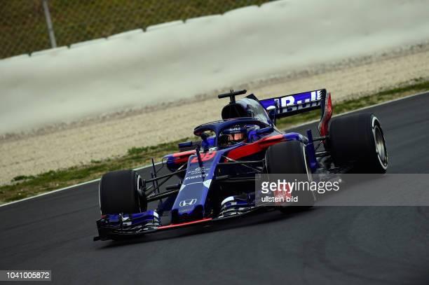 Brendon Hartley; Scuderia Toro Rosso, formula 1 GP, Test, Barcelona Spanien,