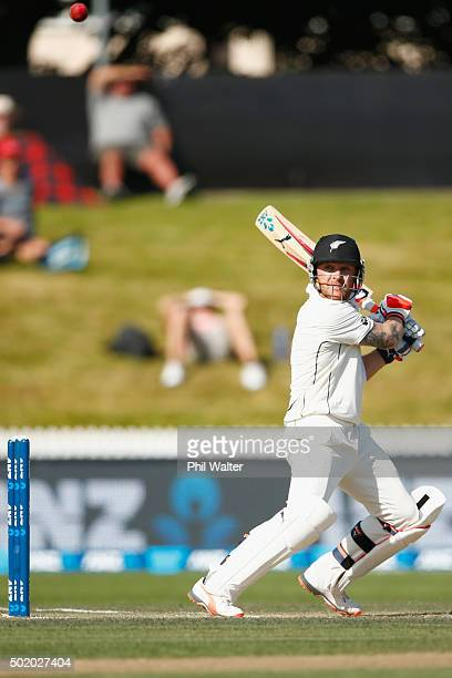Brendon McCullum of New Zealand bats during day three of the Second Test match between New Zealand and Sri Lanka at Seddon Park on December 20, 2015...