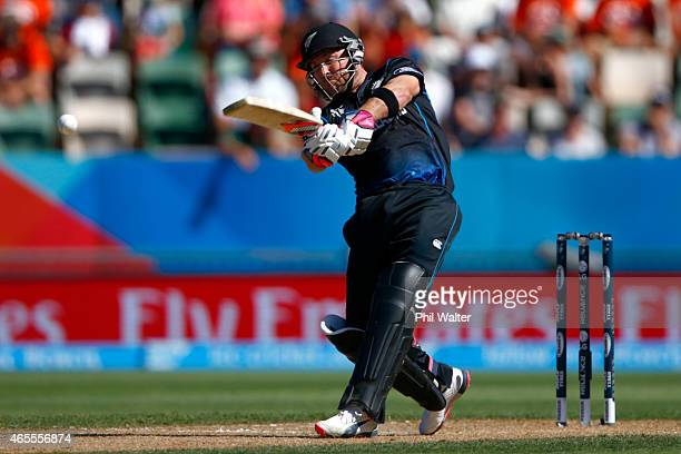Brendon McCullum of New Zealand bats during the 2015 ICC Cricket World Cup match between New Zealand and Afghanistan at McLean Park on March 8 2015...