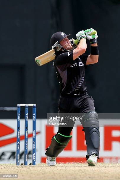 Brendon McCullum of New Zealand in action during the ICC Cricket World Cup Super Eights match between Ireland and New Zealand at the Guyana National...