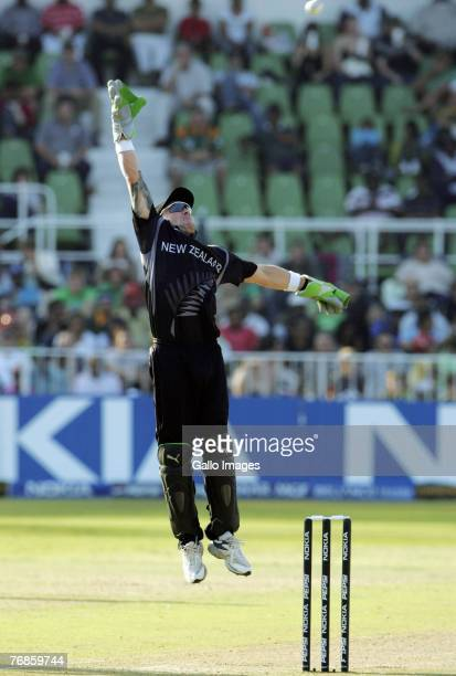 Brendon McCullum of New Zealand in action during the ICC Twenty20 Cricket World Championship Super Eights match between South Africa and New Zealand...