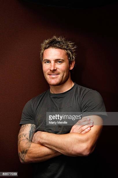 Brendon McCullum of the New Zealand Black Caps poses during a portrait session at the Bolton Hotel on January 07 2008 in Wellington New Zealand