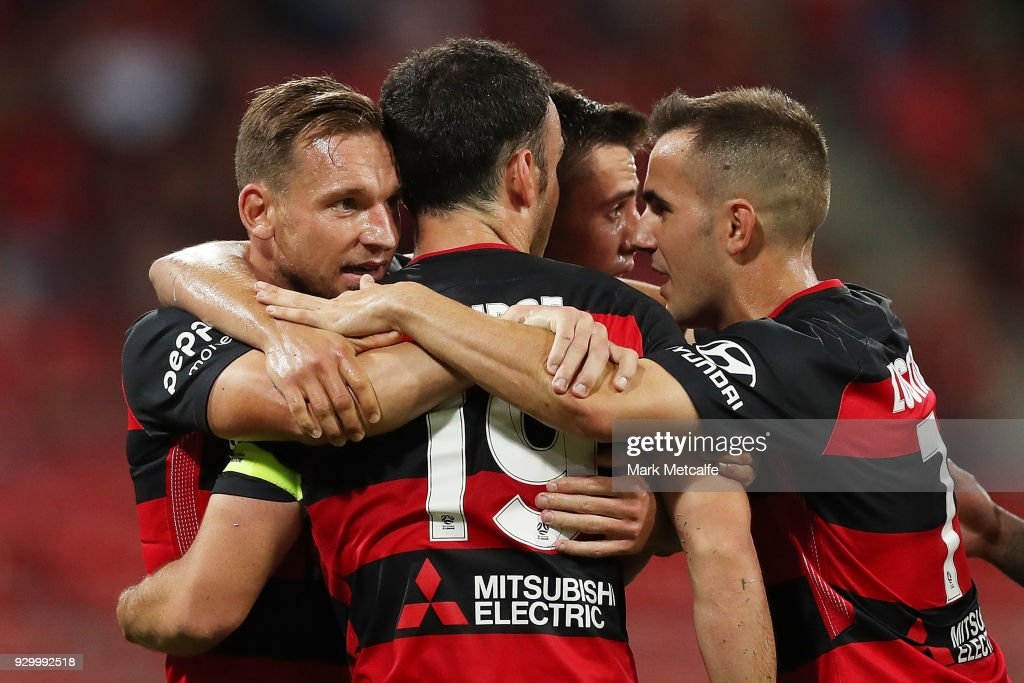 A-League Rd 22 - Western Sydney v Wellington : News Photo