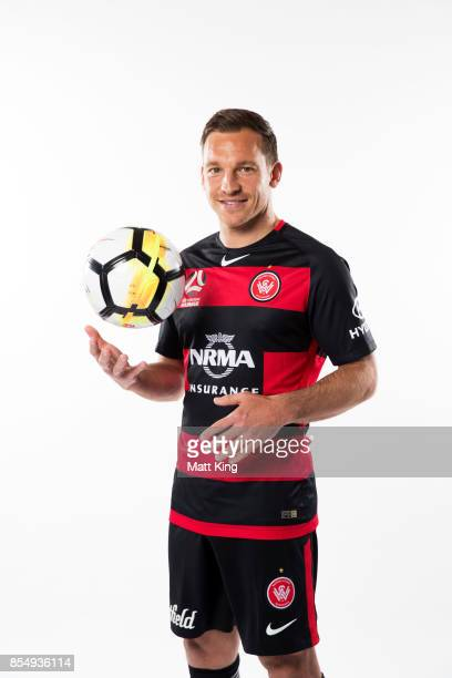 Brendon Santalab of the Wanderers poses during the ALeague Media Day on September 26 2017 in Sydney Australia
