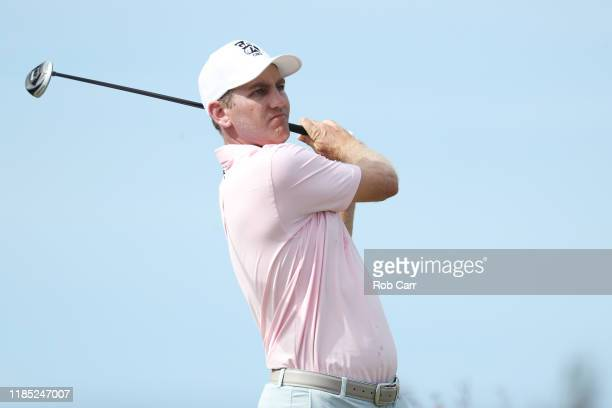 Brendon Todd of the United States plays a shot during the final round of the Bermuda Championship at Port Royal Golf Course on November 03 2019 in...