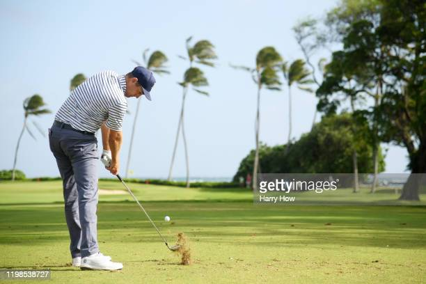 Brendon Todd of the United States plays his shot from the 11th tee during the first round of the Sony Open in Hawaii at the Waialae Country Club on...