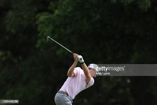 Brendon Todd of the United States plays his shot from the eighth tee during the final round of the World Golf Championship-FedEx St Jude Invitational...