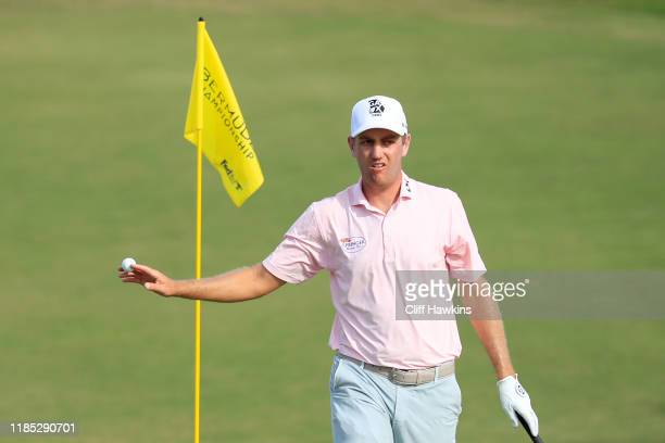 Brendon Todd of the United States reacts on the 13th green during the final round of the Bermuda Championship at Port Royal Golf Course on November...