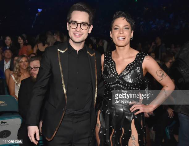Brendon Urie and Halsey attend the 2019 Billboard Music Awards at MGM Grand Garden Arena on May 1 2019 in Las Vegas Nevada