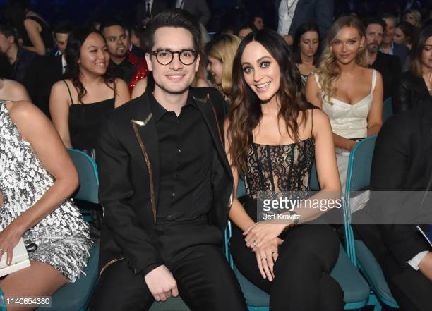 Brendon Urie and Sarah Orzechowski attend the 2019 Billboard Music Awards at MGM Grand Garden Arena on May 1 2019 in Las Vegas Nevada
