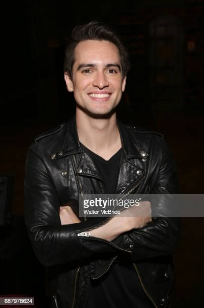 Brendon Urie from Panic at the Disco in rehearsal for his Broadway debut as 'Charlie Price' in the longrunning hit musical Kinky Boots at the...