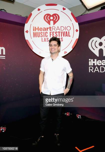Brendon Urie of Panic at the Disco attends the 2018 iHeartRadio Music Festival at TMobile Arena on September 21 2018 in Las Vegas Nevada