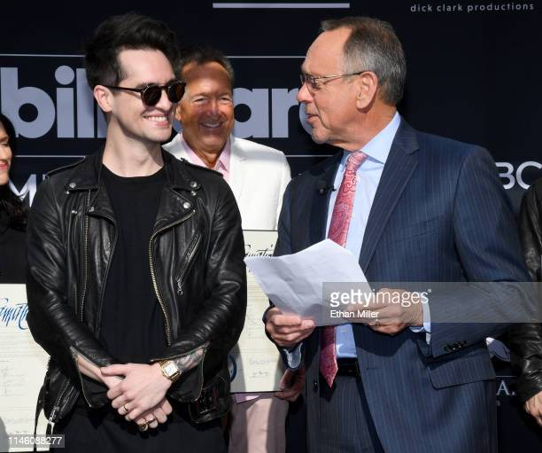 Brendon Urie of Panic at the Disco Executive Producer Billboard Music Awards and EVP Television dick clark productions Barry Edelman and Clark County...