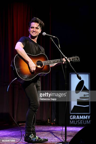 Brendon Urie of Panic at the Disco performs at An Evening With Panic At The Disco at The GRAMMY Museum on September 12 2016 in Los Angeles California