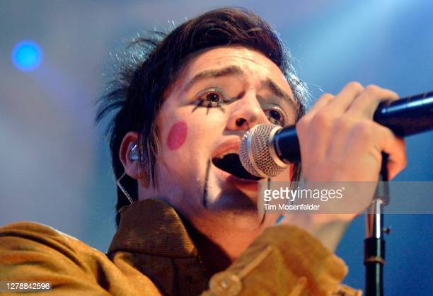 Brendon Urie of Panic! at the Disco performs at HP Pavilion on December 5, 2006 in San Jose, California.