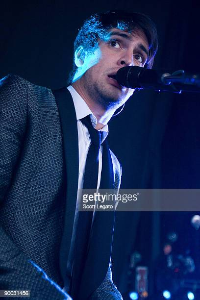 Brendon Urie of Panic at the Disco performs at the DTE Energy Center on August 22 2009 in Clarkston Michigan