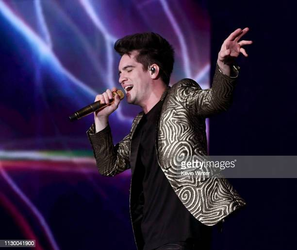 Brendon Urie of Panic at the Disco performs at The Forum on February 15 2019 in Inglewood California