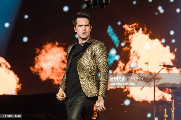 Brendon Urie of Panic at the Disco performs during day 4 of Rock In Rio Music Festival at Cidade do Rock on October 3 2019 in Rio de Janeiro Brazil