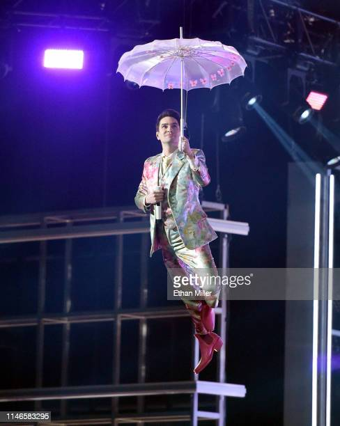Brendon Urie of Panic at the Disco performs during the 2019 Billboard Music Awards at MGM Grand Garden Arena on May 1 2019 in Las Vegas Nevada